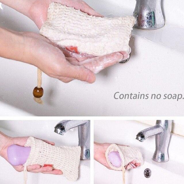 4 pz Schiuma Bagno Strumento di Massaggio Maglia Scrub Asciugatura Sapone Sacche