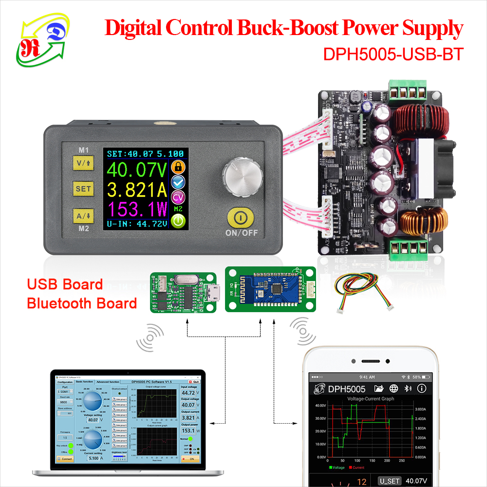 RD DPH5005 Buck-boost converter Constant Voltage current Programmable digital control Power Supply color LCD voltmeter 50V 5A Картофель фри