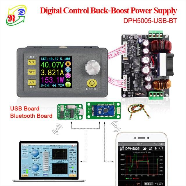 RD DPH5005 Buck-boost convertidor de voltaje constante actual digital programable de alimentación de control de color LCD voltímetro 50 V 5A