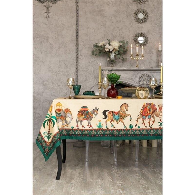 Tablecloth Ethel New Delhi 180х150 cm, 100% CHL, twill 190 C/m2 4136549 delhi top 10