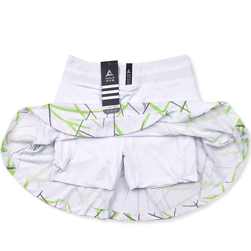 Frauen Sport Tennis Skort Short Badminton Rock mit Sicherheit Shorts Gestreift Tennis Rock
