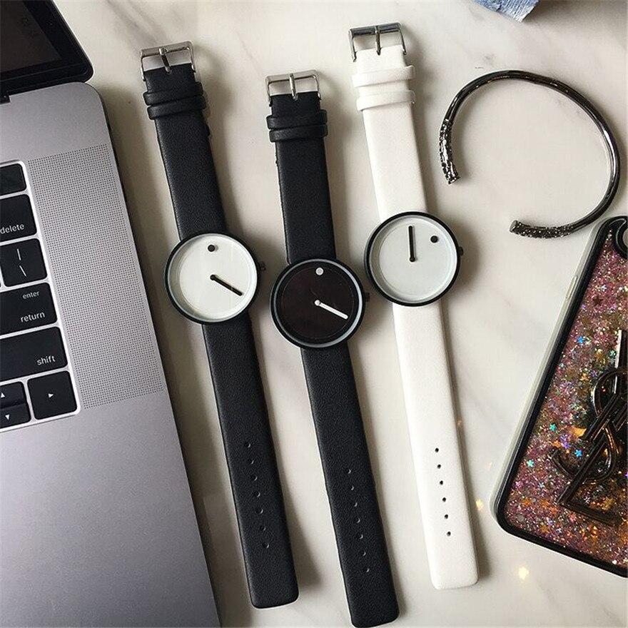 2018 Minimalist style creative women wristwatches black & white new design Dot and Line simple stylish quartz fashion watches 5