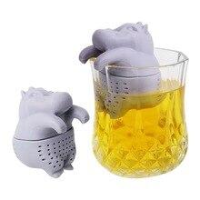 Tea Strainer Filter Creative Cute Hippo Shape Silicone Tea I
