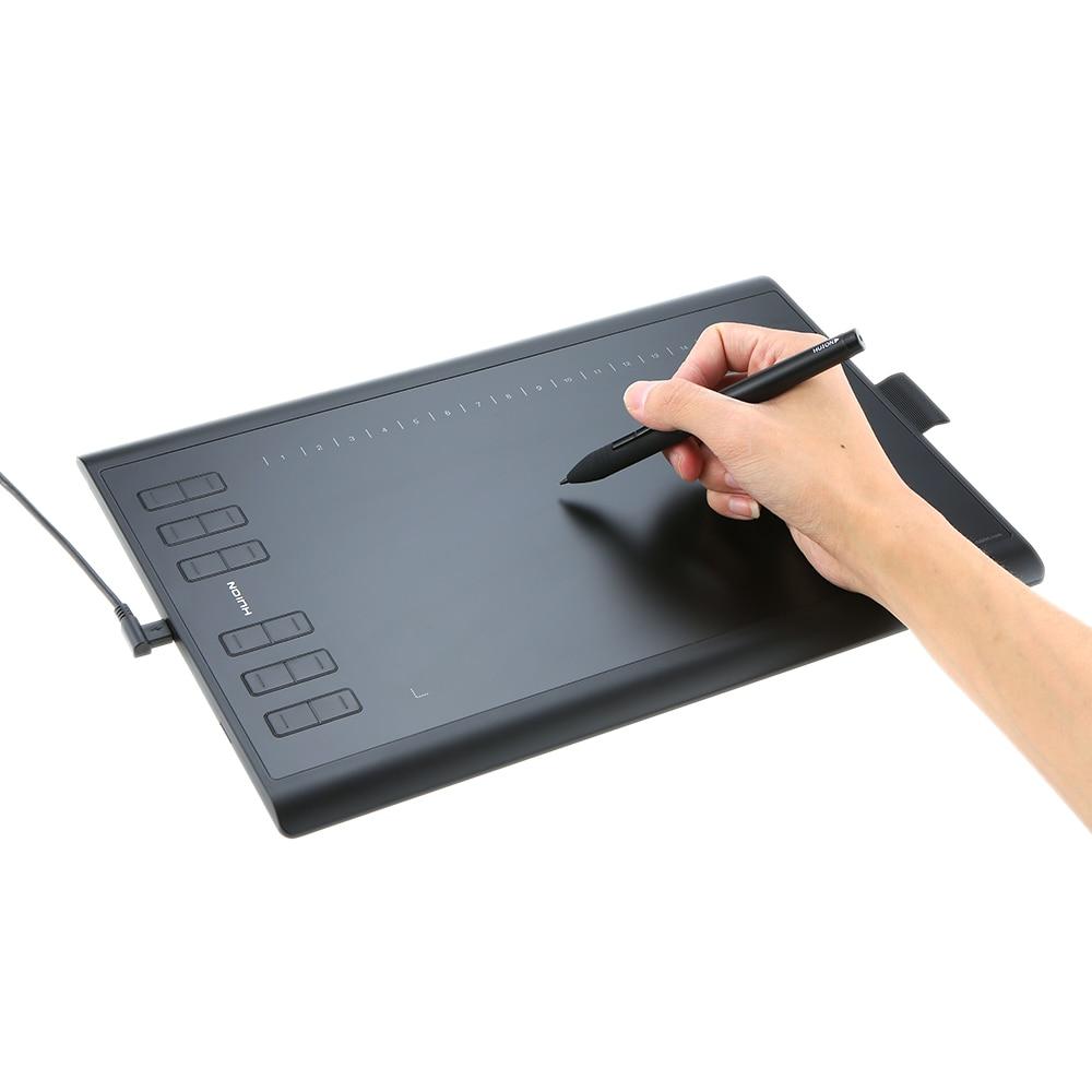 Huion tablette graphique Art planche à dessin Électronique tablette d'écriture Avec micro usb 8G TF Carte 12 Touches Numérique Stylo
