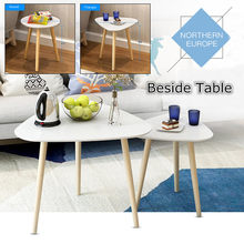Bedside Round Triangle Dining Table Coffee Desk 50X49cm Wood Legs Home Office Funiture Bar Cafe Furniture Decoration(China)