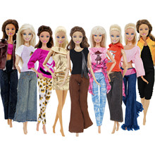 1x Fashion Doll Dress Daily Casual Wear Skirt Pants Vest Jeans Coat Dollhouse Accessories Outfit Clothes for Barbie Doll Clothes(China)