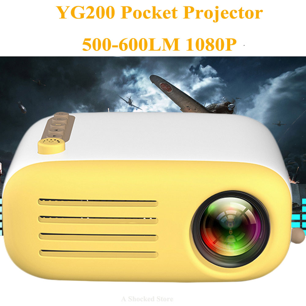 7bcc823880a908 YG300 Upgrade YG200 Mini LED Pocket Projector Home Beamer Kids Gift USB  HDMI Video Portable Projector