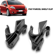 Clip para estante de paquete de plástico duradero, ajuste directo, accesorios para automóviles, práctico vehículo trasero para Fiat Grande Punto