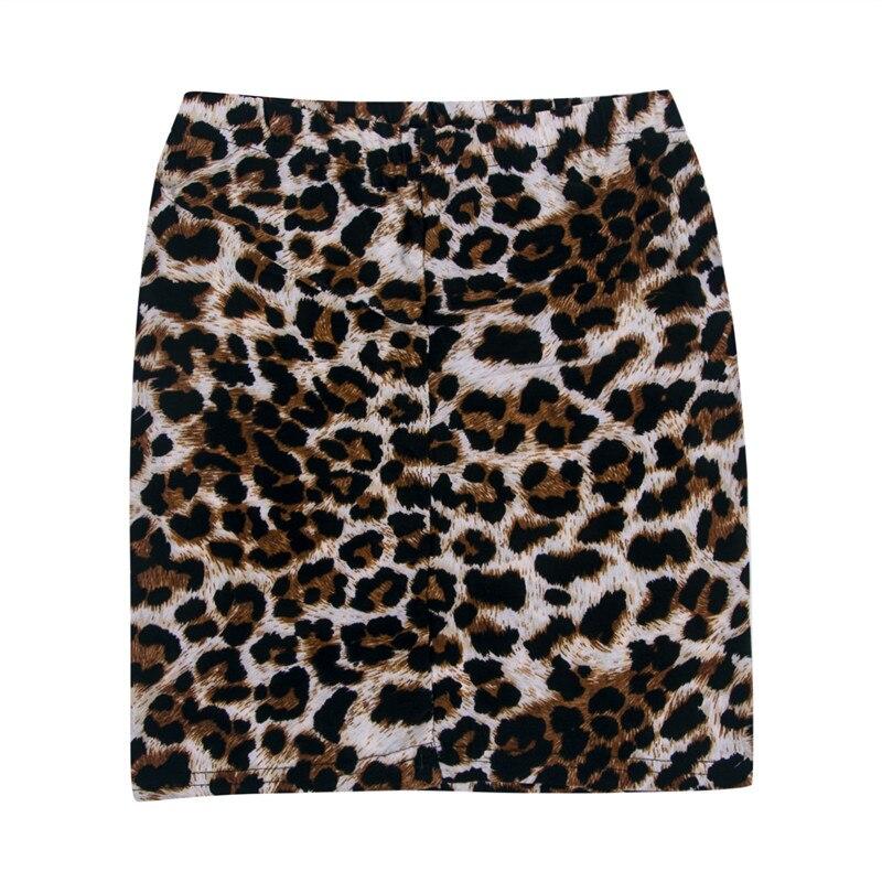 Hot Sell Sexy Women Super Mini Leopard Skirts Fashion High Wasit Skinny Pencil Skirt Autumn Summer Ladies Nightclub Partywear
