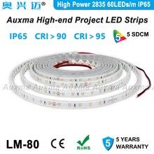 High Power 2835 60LEDs/m LED Strip,CRI95 CRI90 IP65,DC12V/24V,300LED/Reel,5m/Reel,Waterproof for Advertising light boxes,kitchen