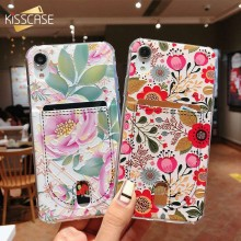 Caso Da Moda Para iPhone 7 BEIJOS 6 8 6 s Plus XR XS Max X Titular Do Cartão Macio TPU Telefone casos Para iPhone 5 5S SE Capa Fundas(China)