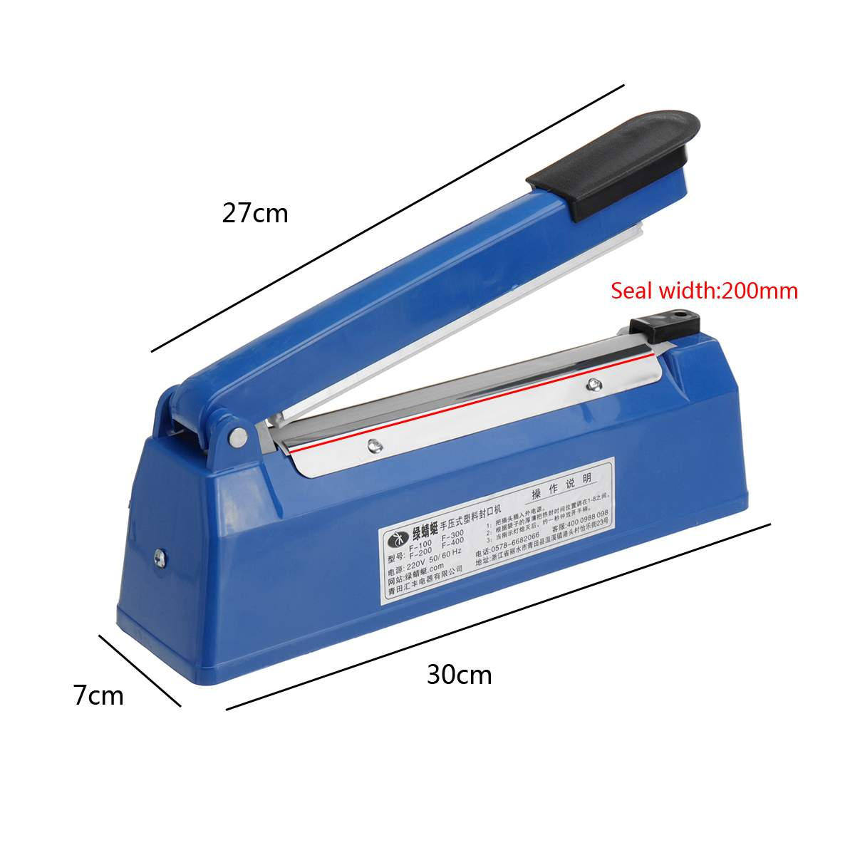 200mm to 300mm High Temperature Resistant Electric Vacuum Food Sealer with Excellent Cooling Base to Keep the Food Fresh 5