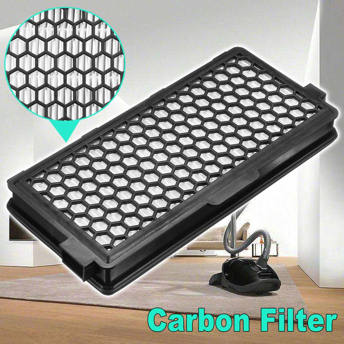 Carbon Filter Replacement for Miele SF-AAC50 Active Air Clean Home Vacuum Cleaner Cat Dog Pet Machine High QualityCarbon Filter Replacement for Miele SF-AAC50 Active Air Clean Home Vacuum Cleaner Cat Dog Pet Machine High Quality