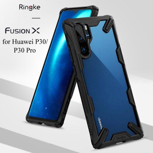 Ringke Fusion X đối với Huawei P30/Trường Hợp Pro Dual Layer Heavy Duty Bảo Vệ Thả PC Rõ Ràng Cover Quay Lại và mềm TPU Khung Lai