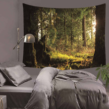 Beautiful natural scenery Wall Tapestry Home Decorations Hanging Forest Decor Curtains Bedroom Blanket Table Cover Yoga Mat