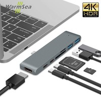 DEX Station For Samsung S8 Nintendo USB Type C HUB Thunderbolt 3 Adapter To 4K HDMI USB Card Reader PD Charging For Macbook Pro