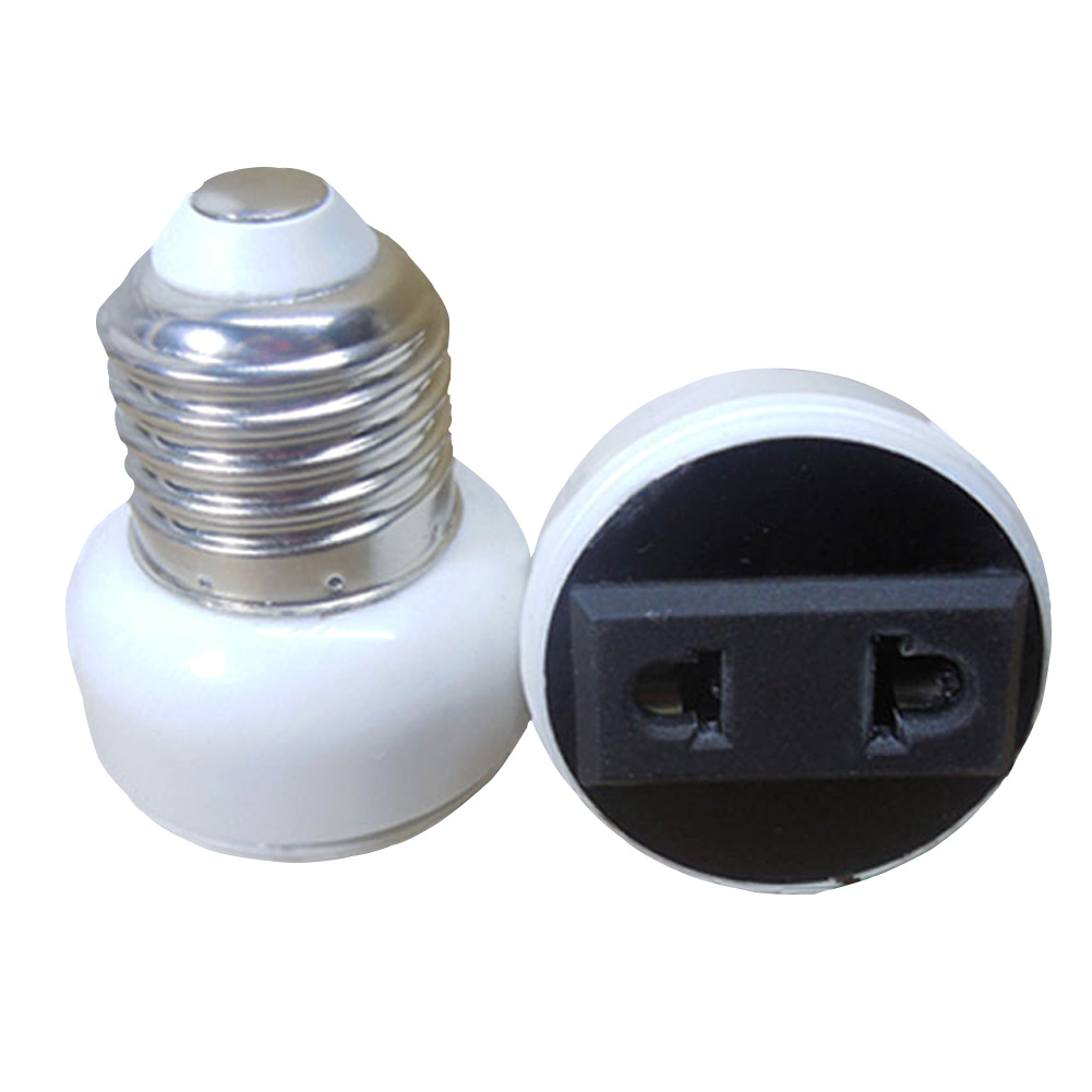 E27 ABS US/EU Plug High Quality Connector Accessories Bulb Holder Lighting Fixture Bulb Base Screw Adapter White Lamp Socket