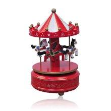 Wooden Carousel Castle Music Box Sky Classic Music