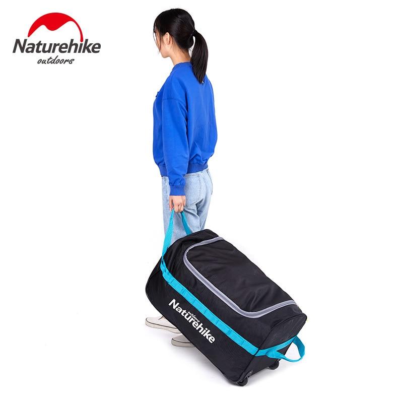 Naturehike 85L 110L Foldable Wheeled Travel Luggage Suitcase Storage Bag Tourism Waterproof Foldable Rolling Luggage Bags