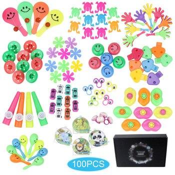 100 pcs 생일 pinata 필러 파티 용품 경품 상품 모듬 된 작은 장난감 세트 교실 보물 상자 파티 선물 호의