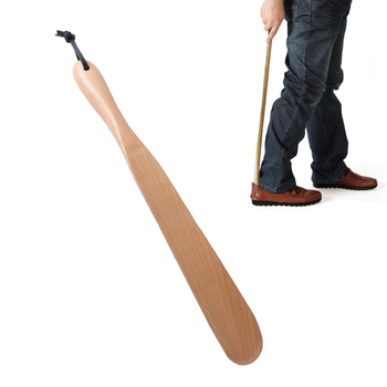 Shoe Horn Long Handle Comfortable Beech Professional Shoe Lifter Shoe Horn Tool for Seniors Pregnancy Men