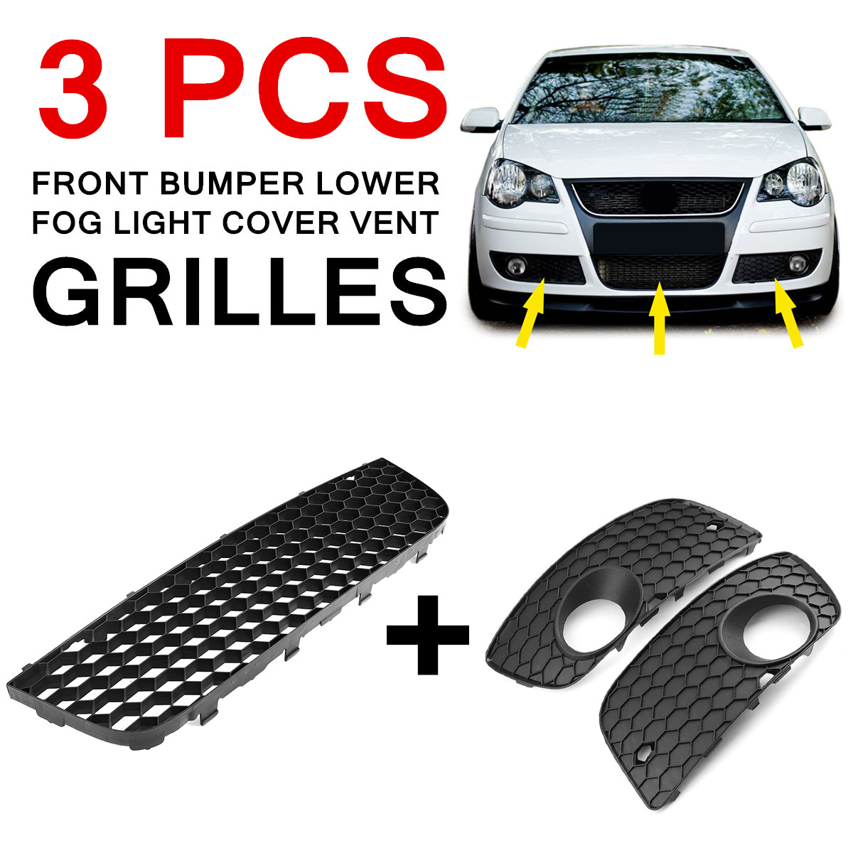 Fit for VW POLO GTI 06 09 MK4 9N3 Car Front Left Right Bumper Lower Fog