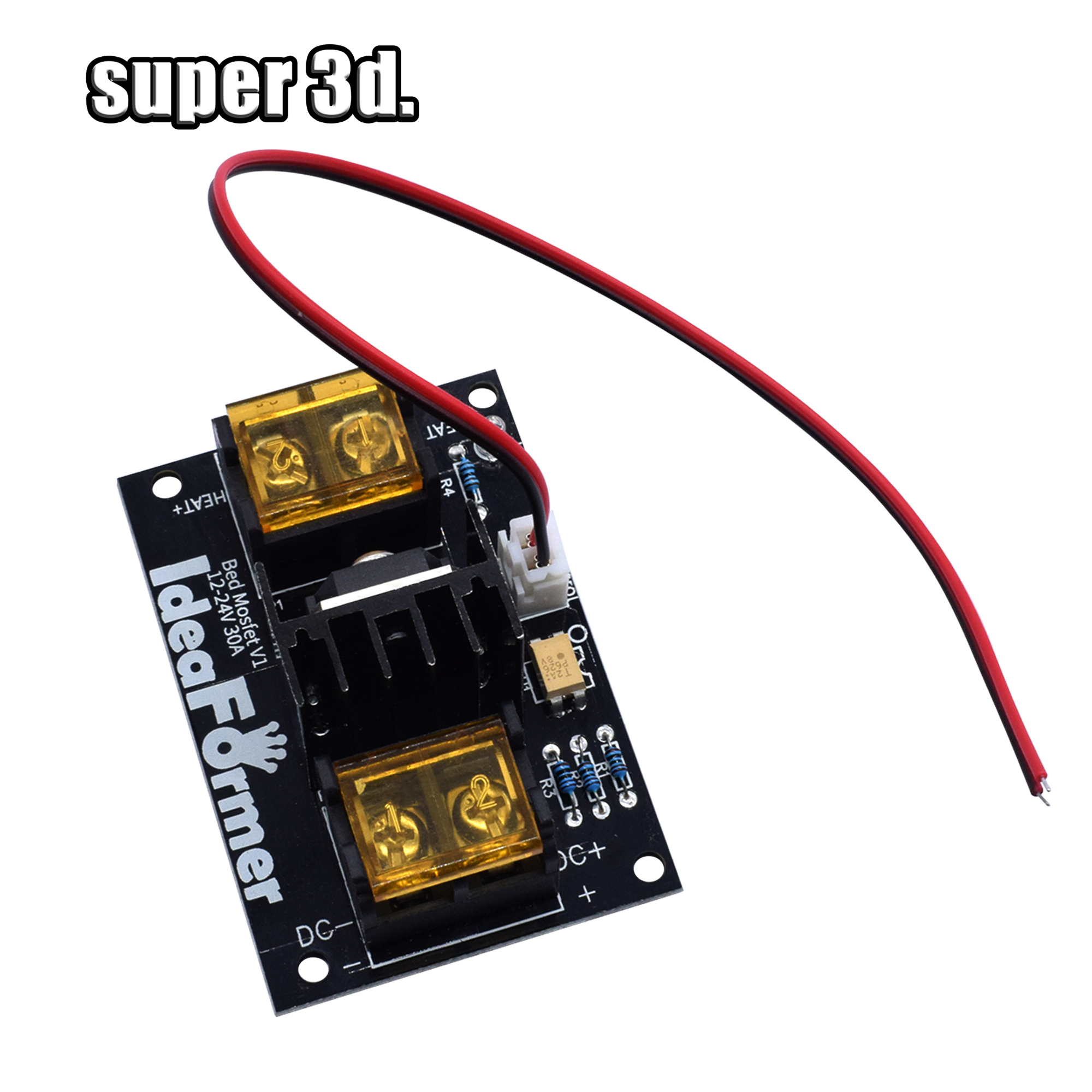 3D Printer Heated Bed Power Module /Hotbed MOSFET 30A Expansion Module Inc 2pin Lead With Cable For Anet A8 A6 A2 Ramps 1.4