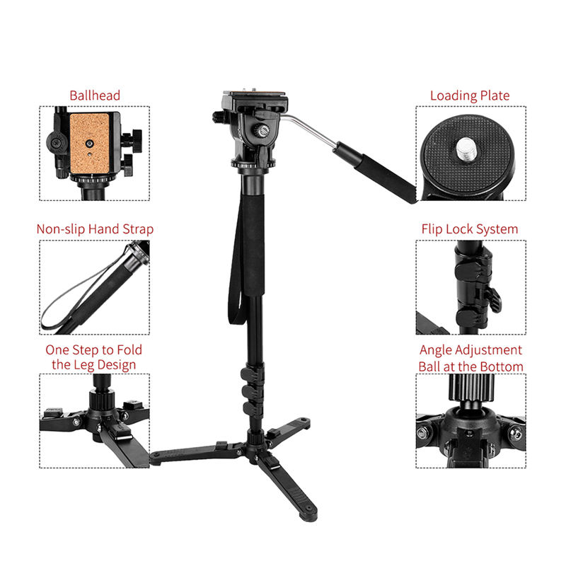 Image 5 - Kingjoy Mp1008F Set Professional Monopod Set Dslr For All Models Camera Tripod Stand Para Movil Flexible Tripe Stativ Slr Dslr-in Live Tripods from Consumer Electronics