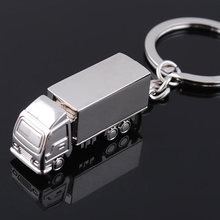 5 Pcs Keychains Alloy Truck Shape Creative Handbag Decoration Pendant Keyring For Car Key Bag Purse Bag(China)