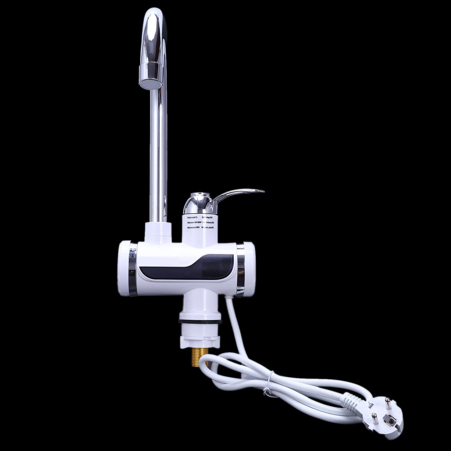 Image 5 - Hot Sale Eu Plug Electric Kitchen Water Heater Tap Instant Hot Water Faucet Heater Cold Heating Faucet Tankless Instantaneous-in Kitchen Faucets from Home Improvement