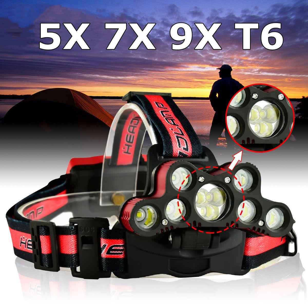 Versprechende 120000LM 9xT6 LED Wiederaufladbare Scheinwerfer Taschenlampe Scheinwerfer Kopf Licht Lampe für jagd radfahren bergsteigen camping