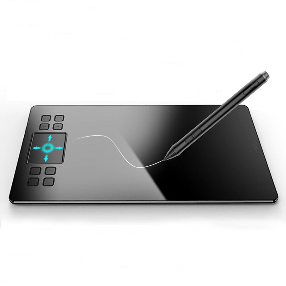 Tablette de dessin graphique A50 tablette de stylo numérique avec 8192 niveaux de planche à dessin de stylo passif pour Win pour les logiciels du système Mac