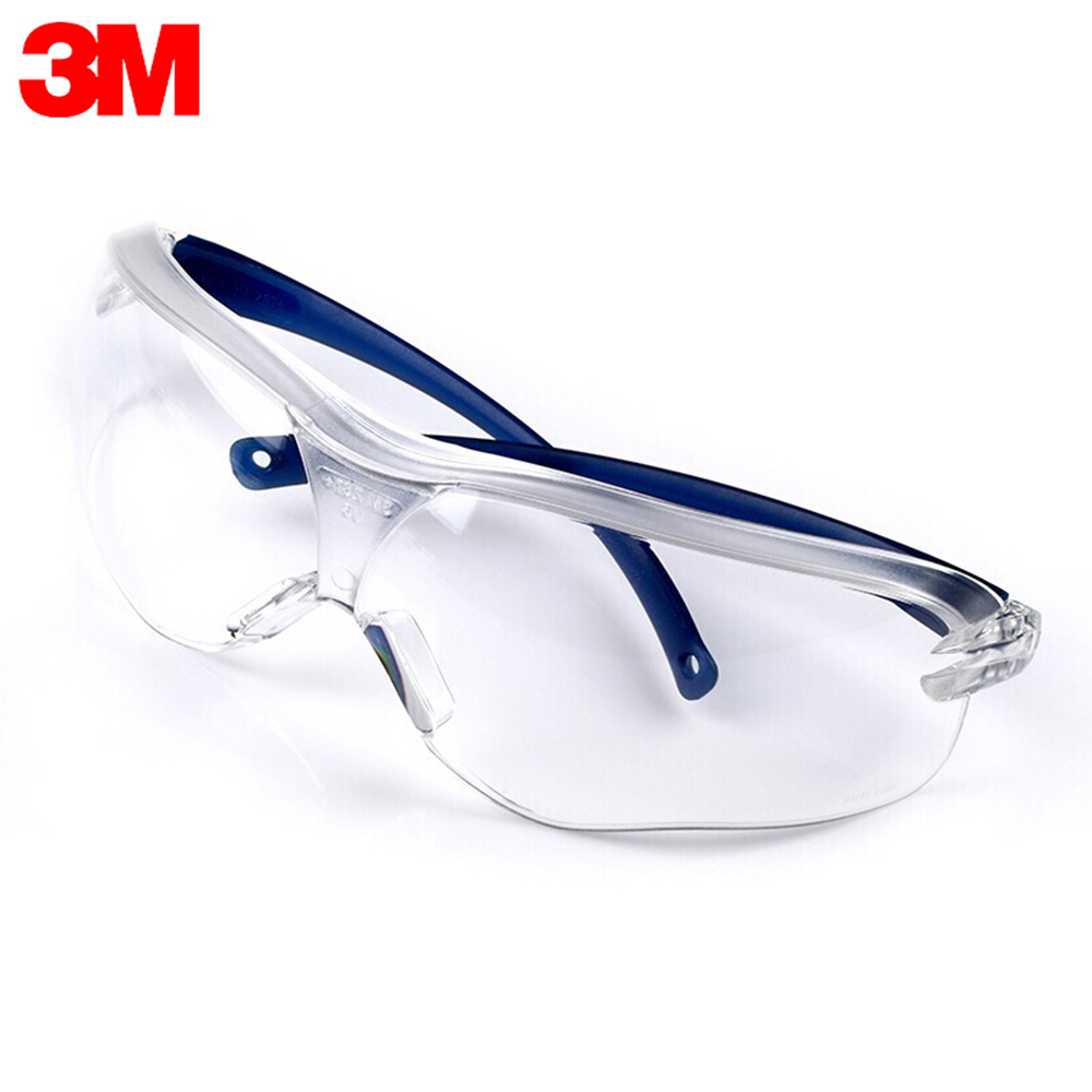 3M 10434 Safety Glasses Work Goggles Anti-wind Anti-sand Anti Fog Anti Dust Resistant Transparent Eyewear Protective Glasses