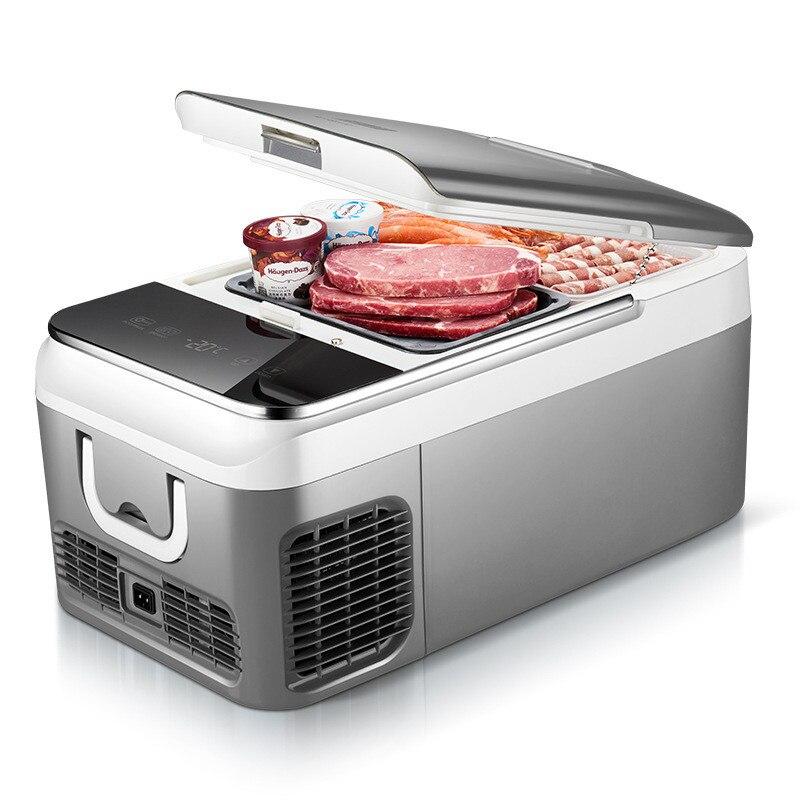 18L voiture réfrigérateur compresseur DC 12 V 24 V voiture réfrigérateur congélateur refroidisseur pour voiture maison pique-nique réfrigération congélateur-20 ~ 10 degrés