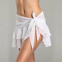 Цельный купальник, бикини, мини юбка с запахом, прозрачный купальник, накидка для пляжа, женское платье-парео, парео, пляжная одежда, летняя одежда
