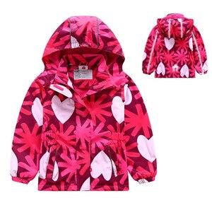 Image 1 - Waterproof Girl Jacket 2020 Spring Autumn Girls Polar Fleece Coats Children Jackets Double deck Kid Sport Jackets