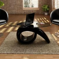 VidaXL Glasss Top Coffee Table Hollow Table Base Bedroom Beside Fashion Tea Table Creative Living Room Furniture