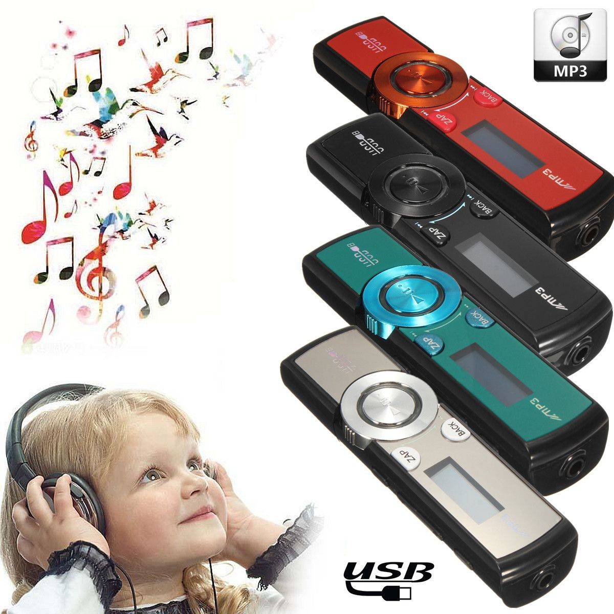 Clip 2019new Stil Hören Musik Kopfhörer Aggressiv Kinco 32 Gb Lcd Hd Bildschirm Usb Mp3/wma Player Mini Media Fm Radio Micro Sd/tf Karte
