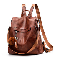 2019 Backpack Women Shoulder School Bags for Teenage Girls Vintage Leather Anti Theft Backpack Mochila Mujer Back Pack Lady