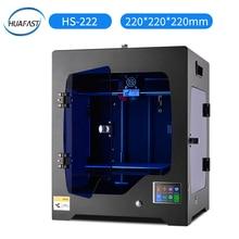 HUAFAST 3D Printer HS-222 printing machine service 3 d kit print hotend mega 2560 marlin mk8 extruder with 1kg pla abs filaments