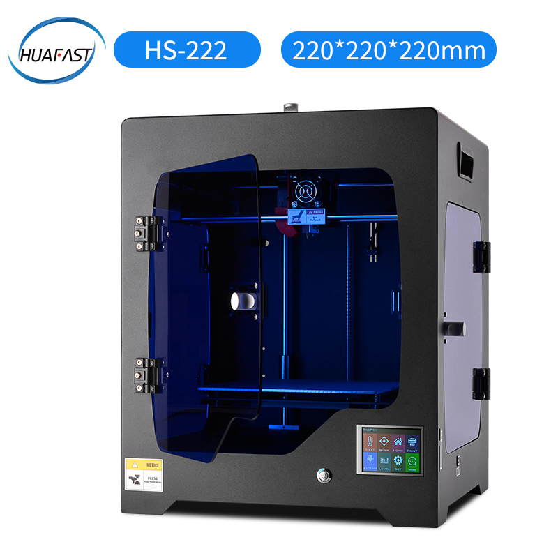 HUAFAST imprimante 3D HS-222 imprimante service 3 d kit impression hotend mega 2560 marlin mk8 extrudeuse avec 1 kg pla abs filaments