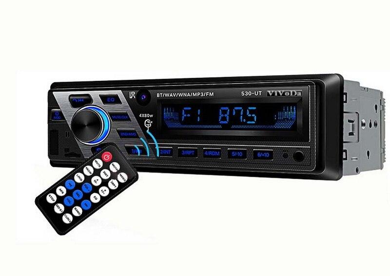 1 Din Bluetooth Aux-in FM HI-FI Car Stereo Car Radio Audio Steoro Remote Control 12V Car Radio Car MP3 Player