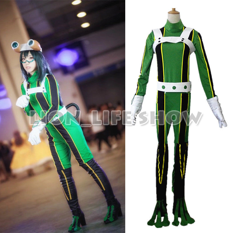 My Hero Academia Asui Tsuyu Uniform Cosplay Costume green Full Set