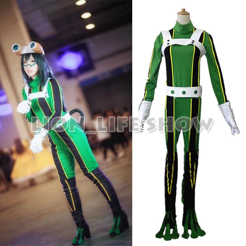 My Hero Academia Asui Tsuyu Uniform Cosplay Costume green Full Set