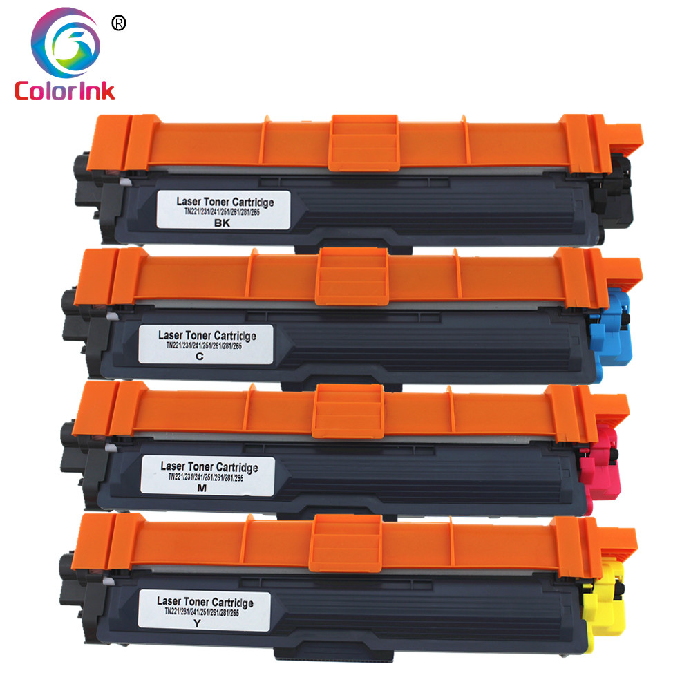 ColorInk 1Pack Compatible for <font><b>Brother</b></font> color toner cartridge TN221 TN241 TN251 TN261 TN281 TN291 HL-3140CW <font><b>3170</b></font> MFC9130CW 9140CDN image