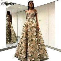 3D цветок вечерние платья без рукавов 2019 халат de soiree арабский Couture Новый Пром вечерние платье для свадьбы турецкий платье в восточном стиле