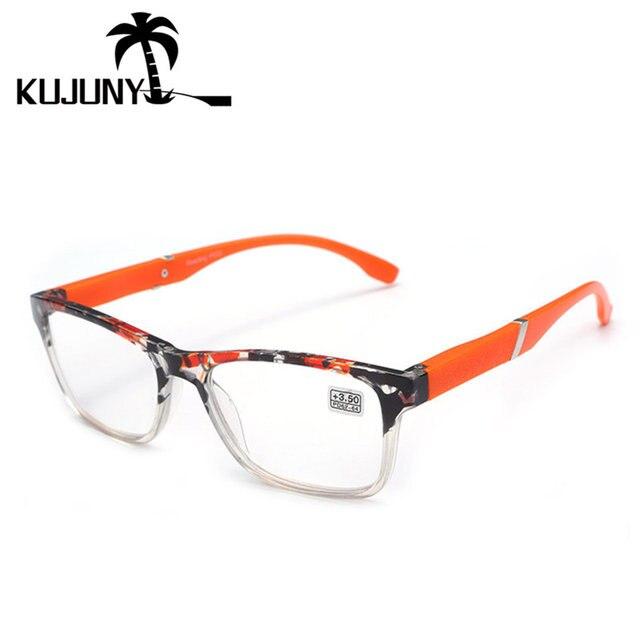 KUJUNY HD Lense Reading Glasses 2018 Fashion Hyperopia Eyeglasses Men Women Resin Lens Presbyopic Glasses 1.5 +2.0 +2.5 +3.0