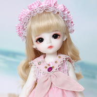 1/6 LinaChouchou Cotton candy Cream BJD SD YOSD Doll For Girls Birthday Xmas Best Gifts