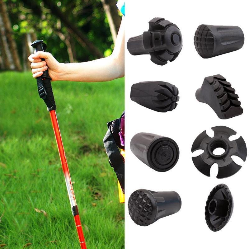 Outdoor Trekking Pole Adjustable Walking Sticks Hiking Accessory Black Outdoor Tools
