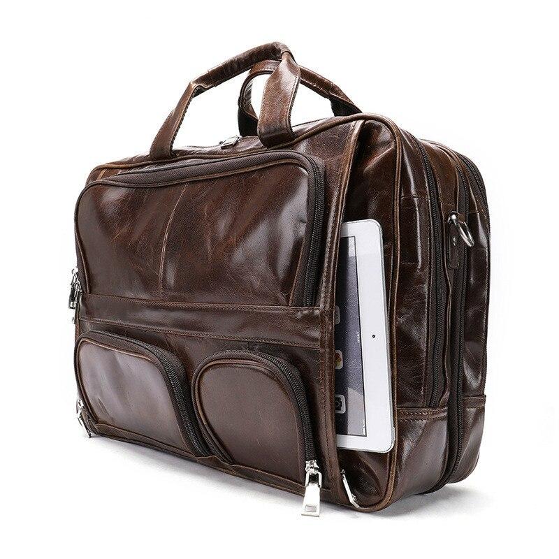 Ретро портативный мужской кожаный старинный дизайн деловой портфель для ноутбука Сумка тоут мужская повседневная Дорожная сумка на плечо